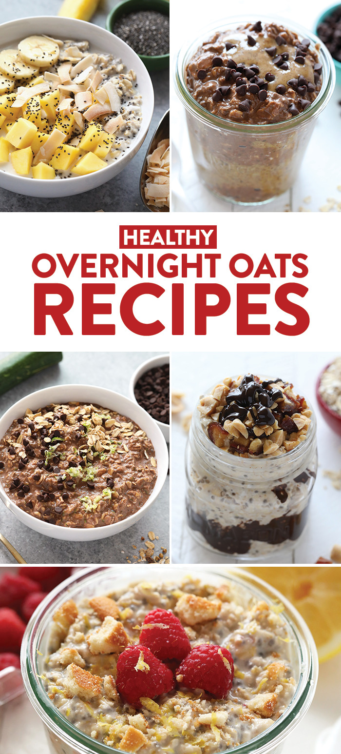 Overnight Oats Healthy Recipe  5 Quick and Healthy Overnight Oat Recipes Video Fit