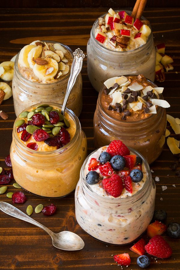 Overnight Oats Healthy Recipe  The BEST Overnight Oats Five Ways  Cooking Classy