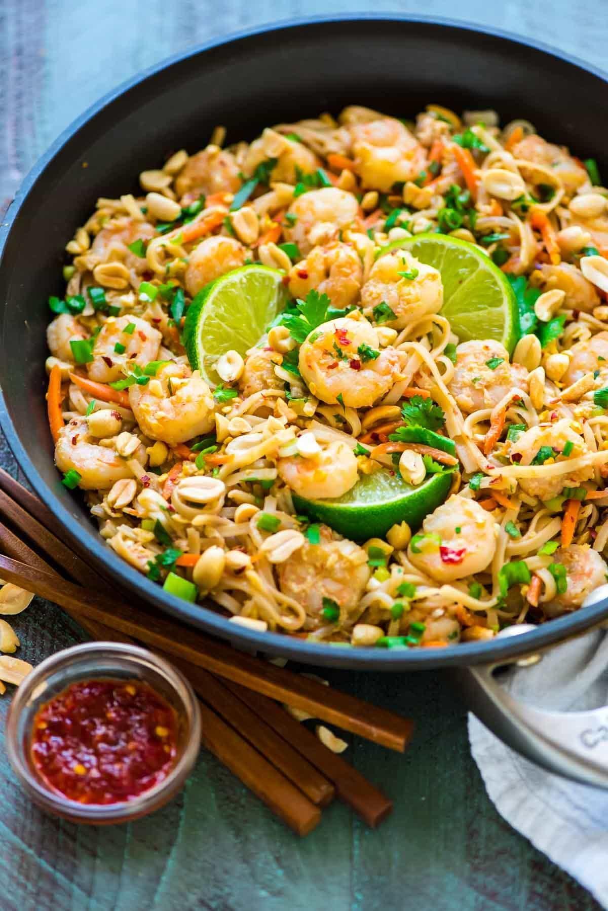 Pad Thai Healthy  Healthy Shrimp Pad Thai