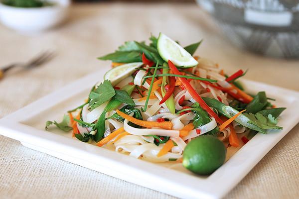 Pad Thai Healthy  Healthy Vegan Pad Thai Recipe The Whole Daily
