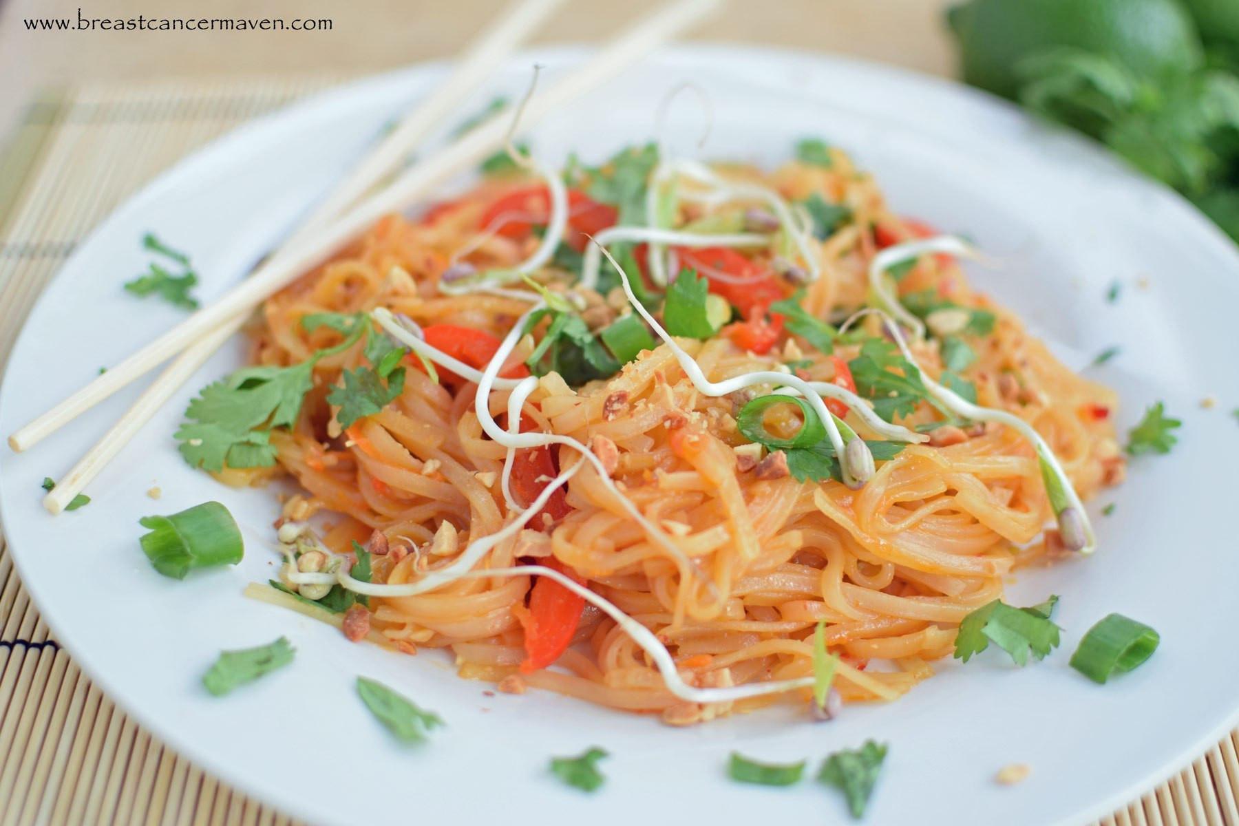 Pad Thai Healthy  Healthy Pad Thai Vegan and Gluten Free Breast Cancer Maven