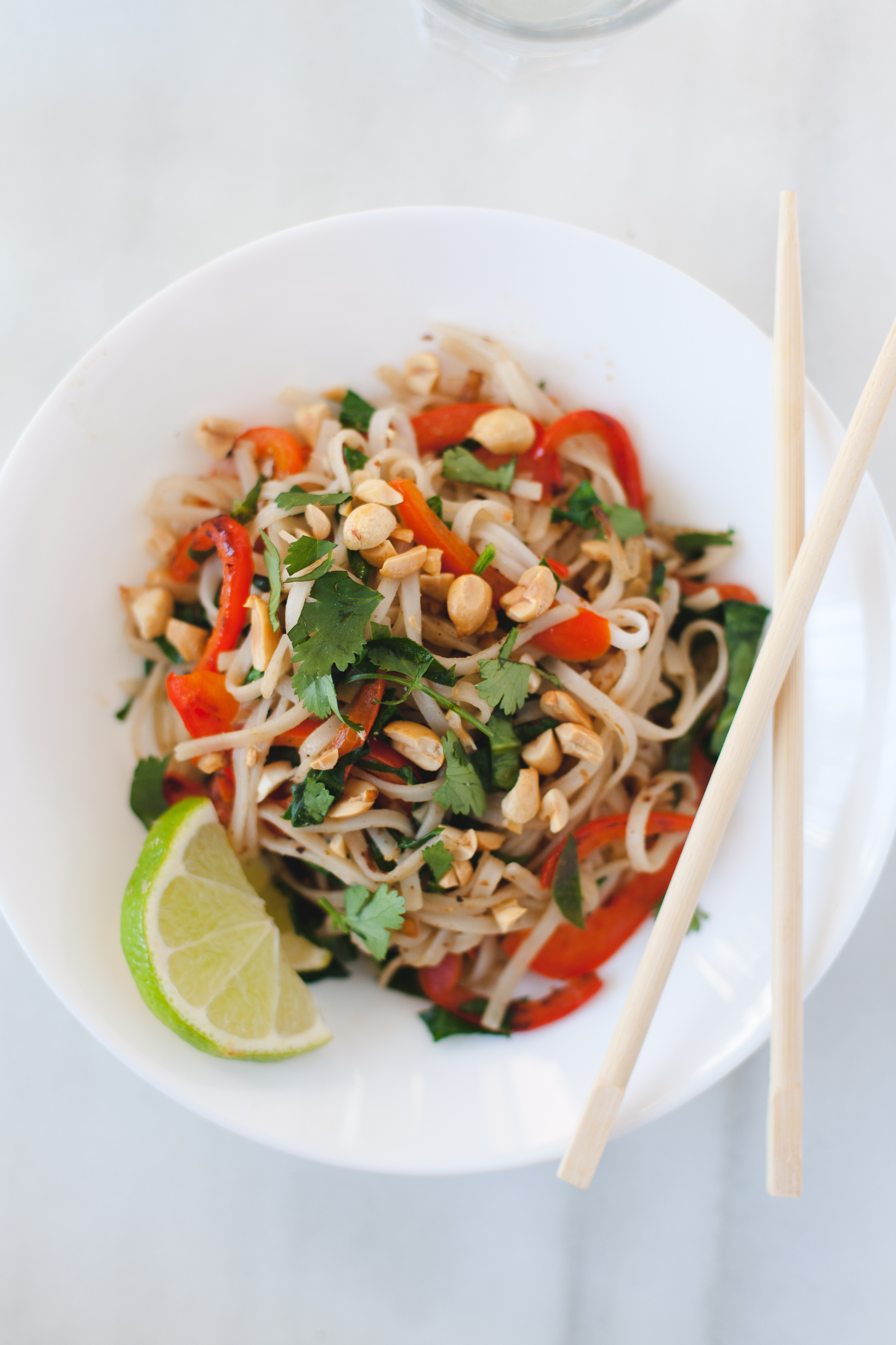 Pad Thai Healthy  Ve able Pad Thai Two Ways – A Happy Healthy Heart