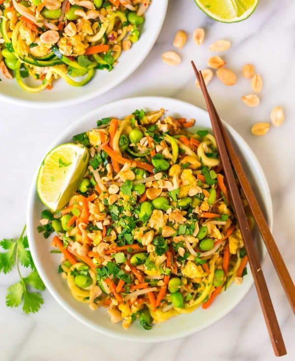 Pad Thai Healthy  Ve arian Pad Thai with Zoodles