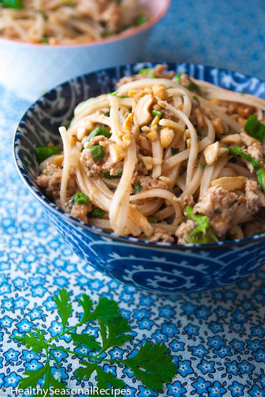 Pad Thai Healthy  turkey pad thai Healthy Seasonal Recipes