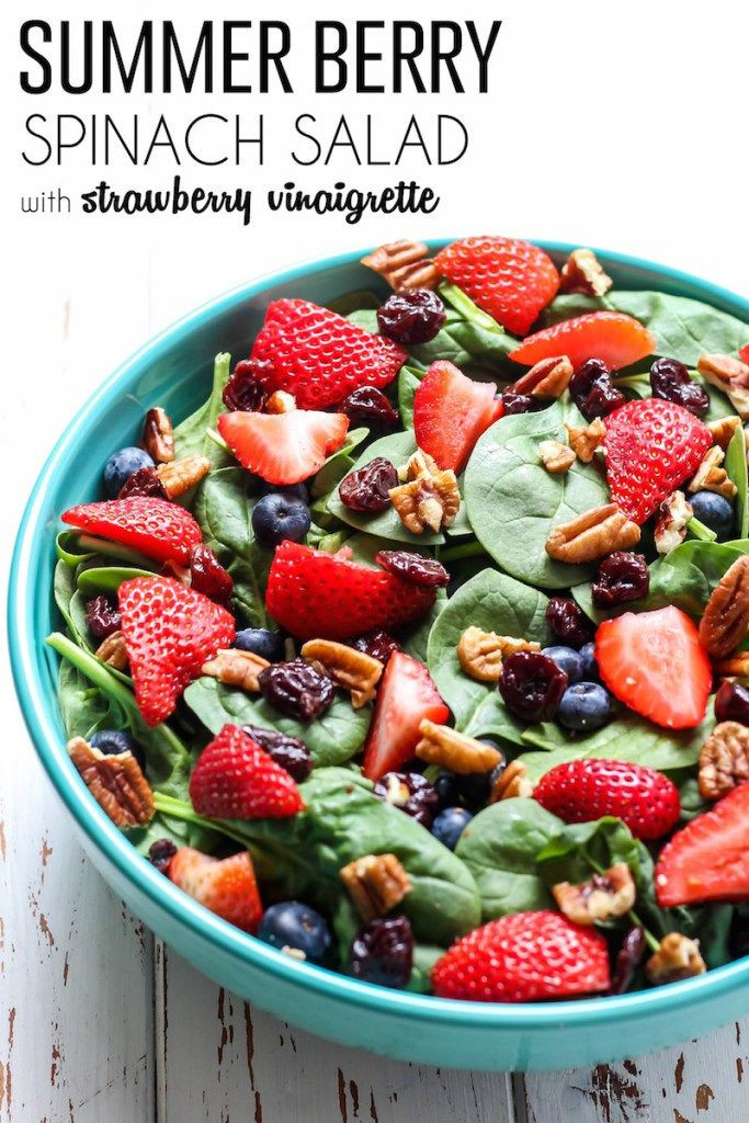 Paleo Summer Salads  Summer Berry Spinach Salad with Easy Strawberry