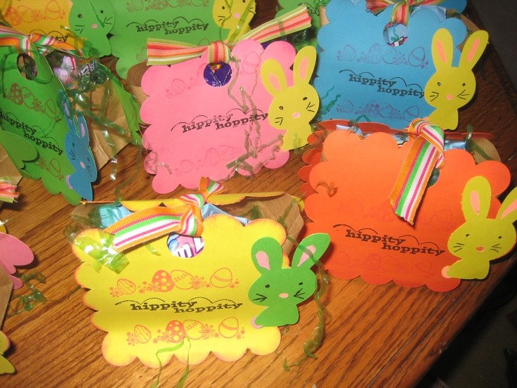 Panera Bread Easter  Easter treat bags I made for school party I had so much