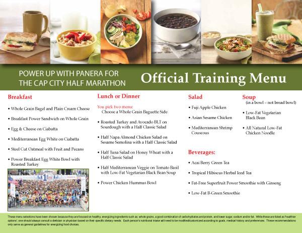 Panera Bread Healthy Menu  Panera Bread ficial Training Menu for OhioHealth Capital