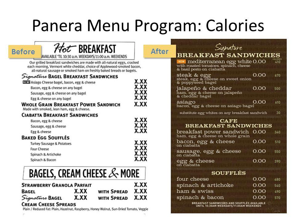 Panera Bread Healthy Menu  Menu Labeling Katie Bengston MS RD LD Nutrition Manager