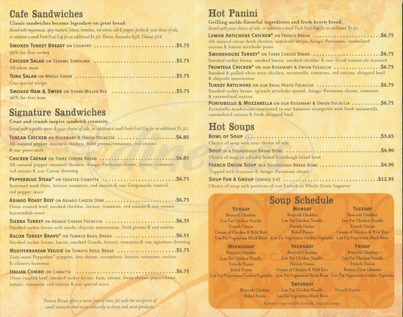 graphic regarding Panera Menu Printable known as The 20 Perfect Tips for Panera Bread Healthier Menu - The Easiest