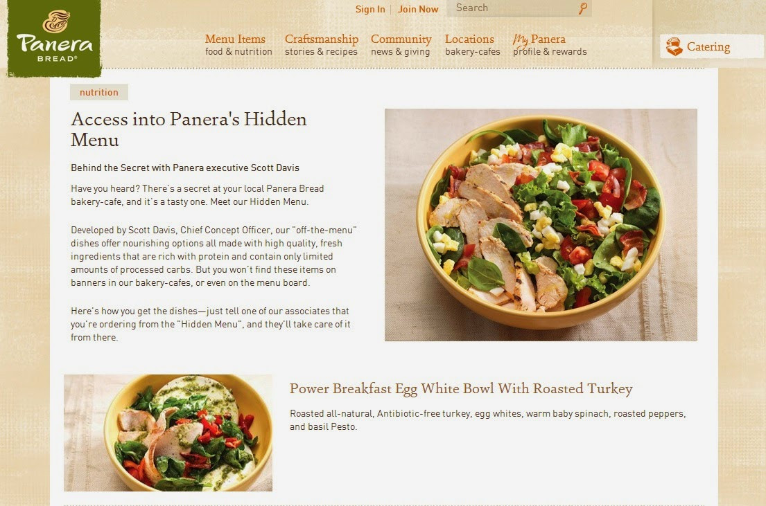 Panera Bread Healthy Menu  Cranky Fitness Secret Menus and Special Requests Staying