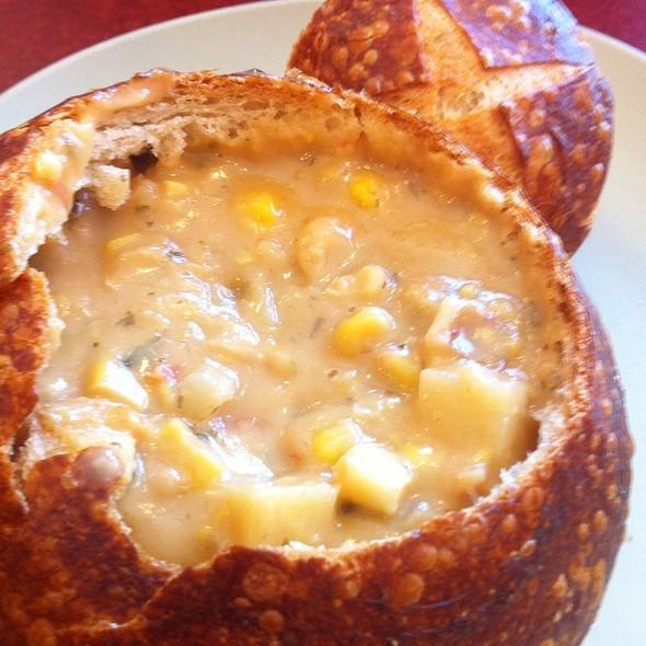Panera Bread Summer Corn Chowder  Terry Schooler Foodspotting