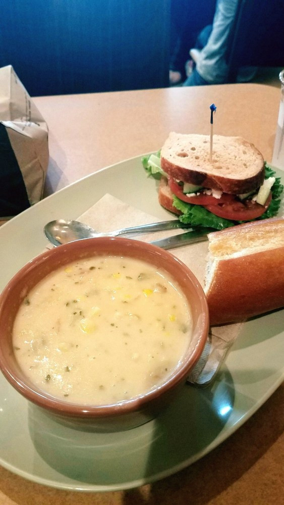 Panera Bread Summer Corn Chowder  My Life as Mrs All about life with my best friend