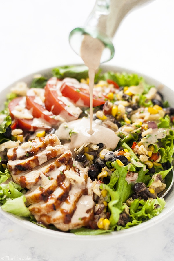 Panera Salads Healthy  Copycat Panera Bread BBQ Chicken Salad an easy and