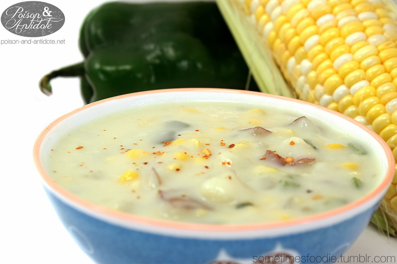 Panera Summer Corn Chowder Ingredients  Sometimes Foo Summer Corn Chowder Pinterest Recipe