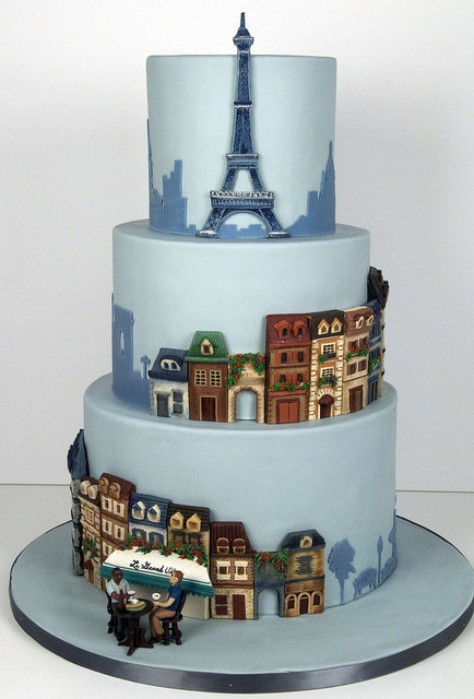 Paris Wedding Cakes  Wedding Cakes Parisian Themed Wedding Cake