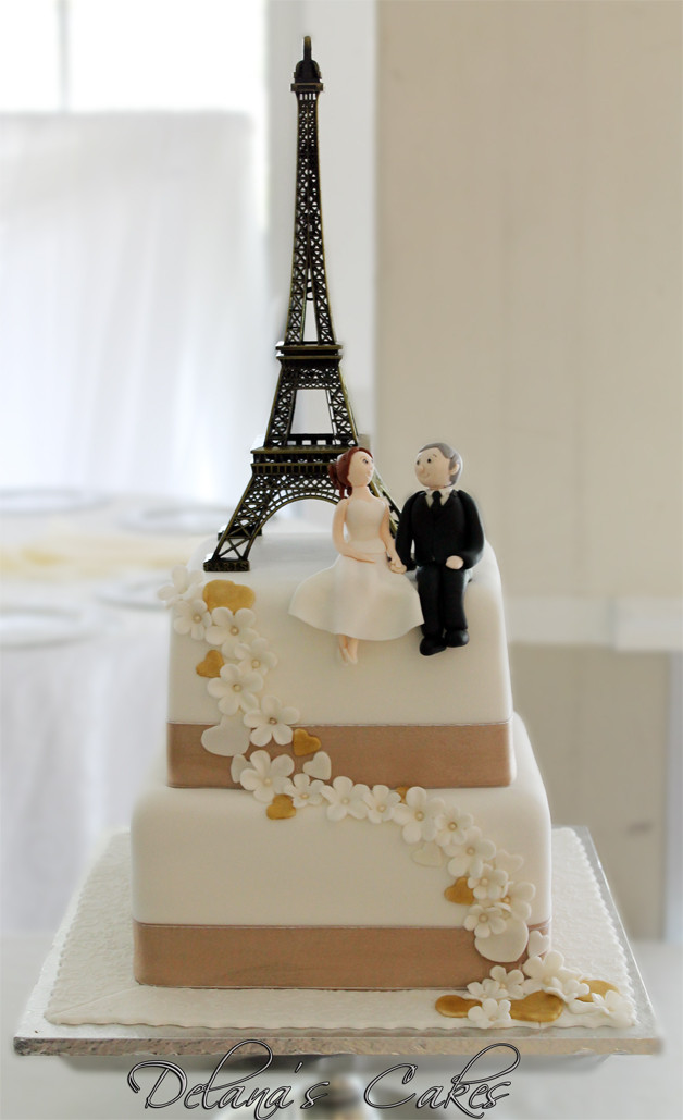 Paris Wedding Cakes  Delana s Cakes