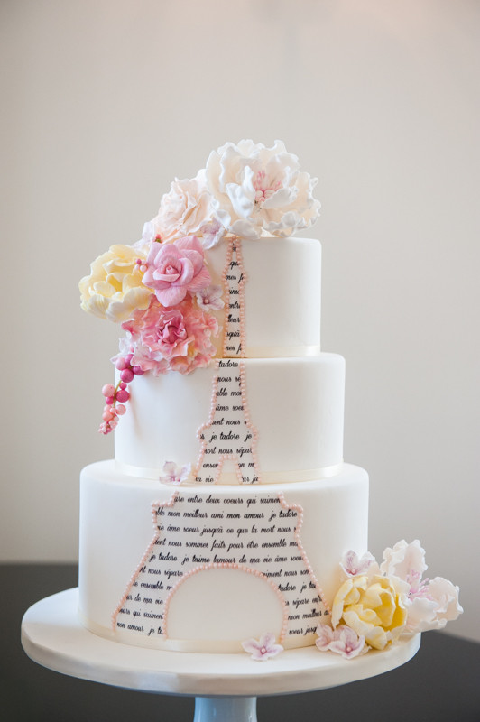 Paris Wedding Cakes  Romantic City of Love Wedding Inspiration United With Love
