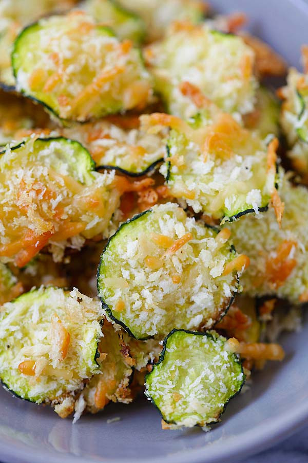 Parmesan Cheese Healthy  Parmesan Zucchini Chips Healthy & Yummy Rasa Malaysia