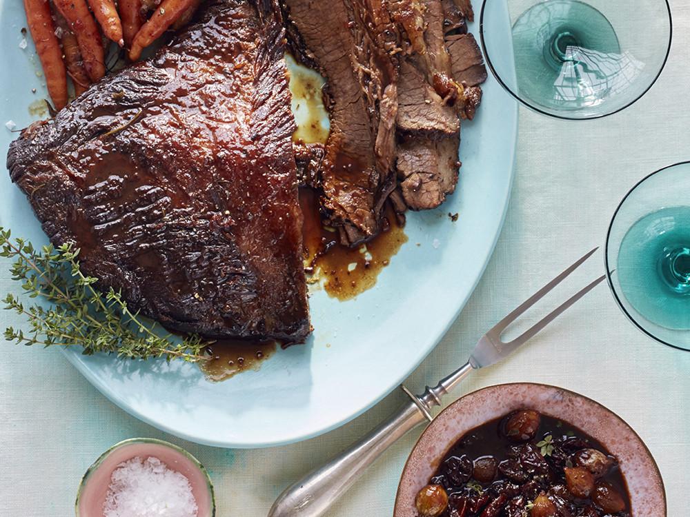 Passover Beef Brisket Recipe  Passover braised brisket with sour cherry glaze