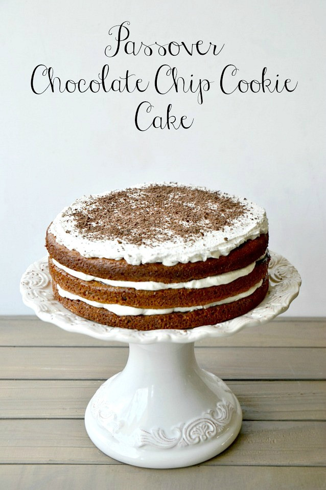 Passover Birthday Cake Recipes  KITCHEN TESTED – Passover Chocolate Chip Cookie Cake on