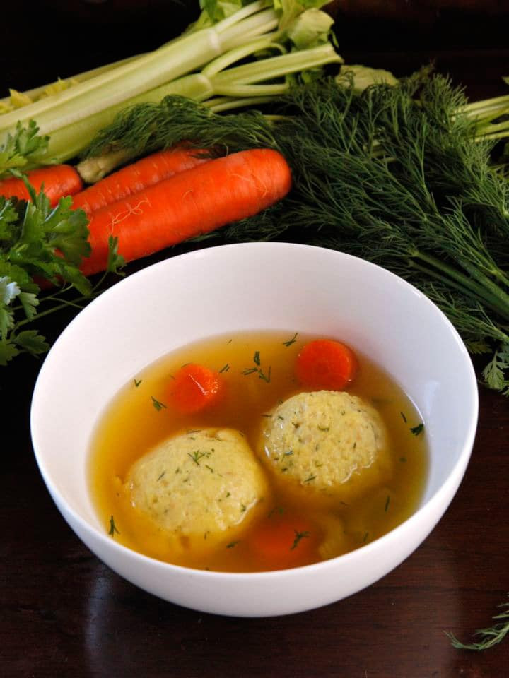 Passover Chicken Soup  Ve arian Matzo Ball Soup Deli Style Recipe for Passover