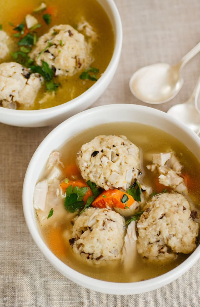 Passover Chicken Soup  Passover Recipe Chicken Soup with Shallot Shiitake Matzo