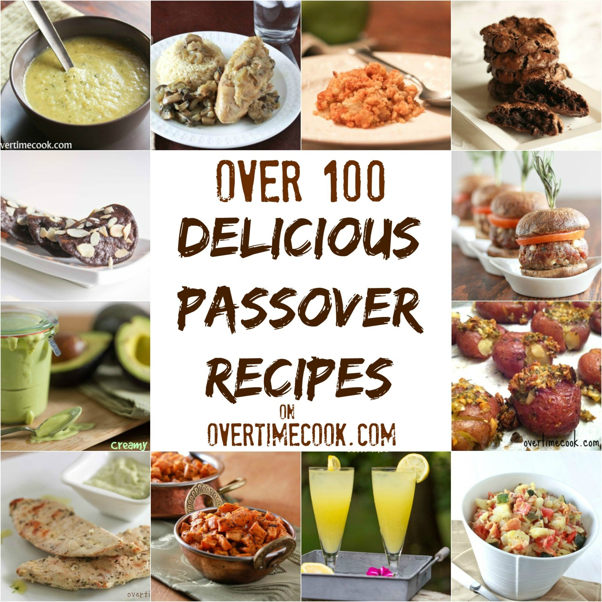 Passover Dinner Menus  Over 100 Delicious Passover Recipes Overtime Cook