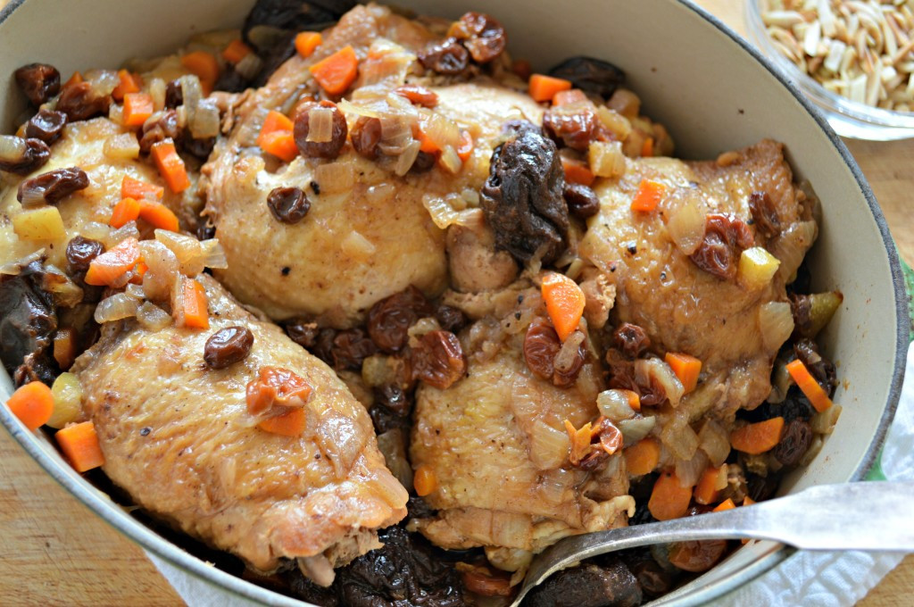 Passover Dinner Recipes  Chicken with Dried Fruit and Almonds for Passover West