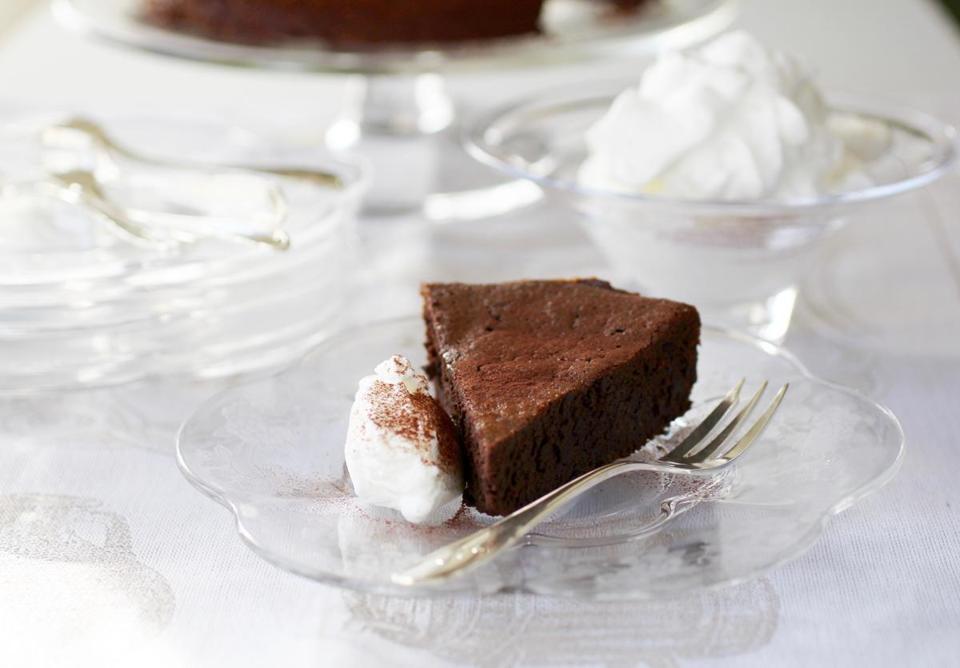 Passover Flourless Chocolate Cake  Recipe for Passover flourless chocolate cake The Boston