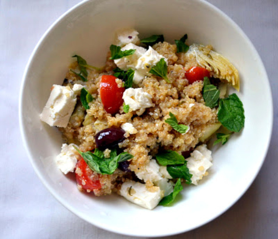 Passover Quinoa Recipe  Greek Infused Quinoa Salad for Passover The Little
