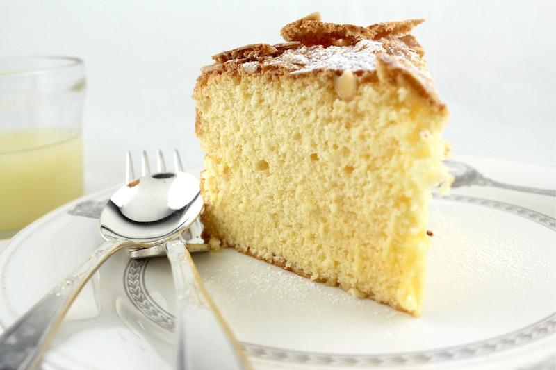 Passover Sponge Cake  Passover Lemon Almond Sponge Cake with Warm Lemon Sauce