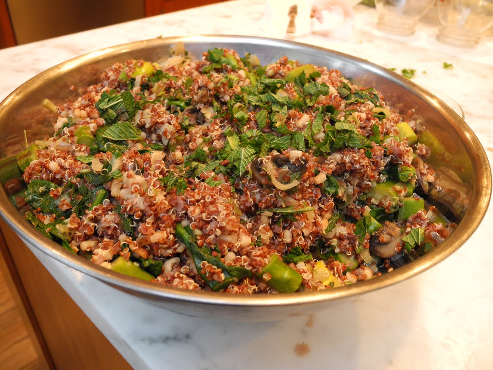 Passover Vegetable Side Dishes  MUCH ADO ABOUT STUFFING Quinoa and Spring Ve able Pilaf