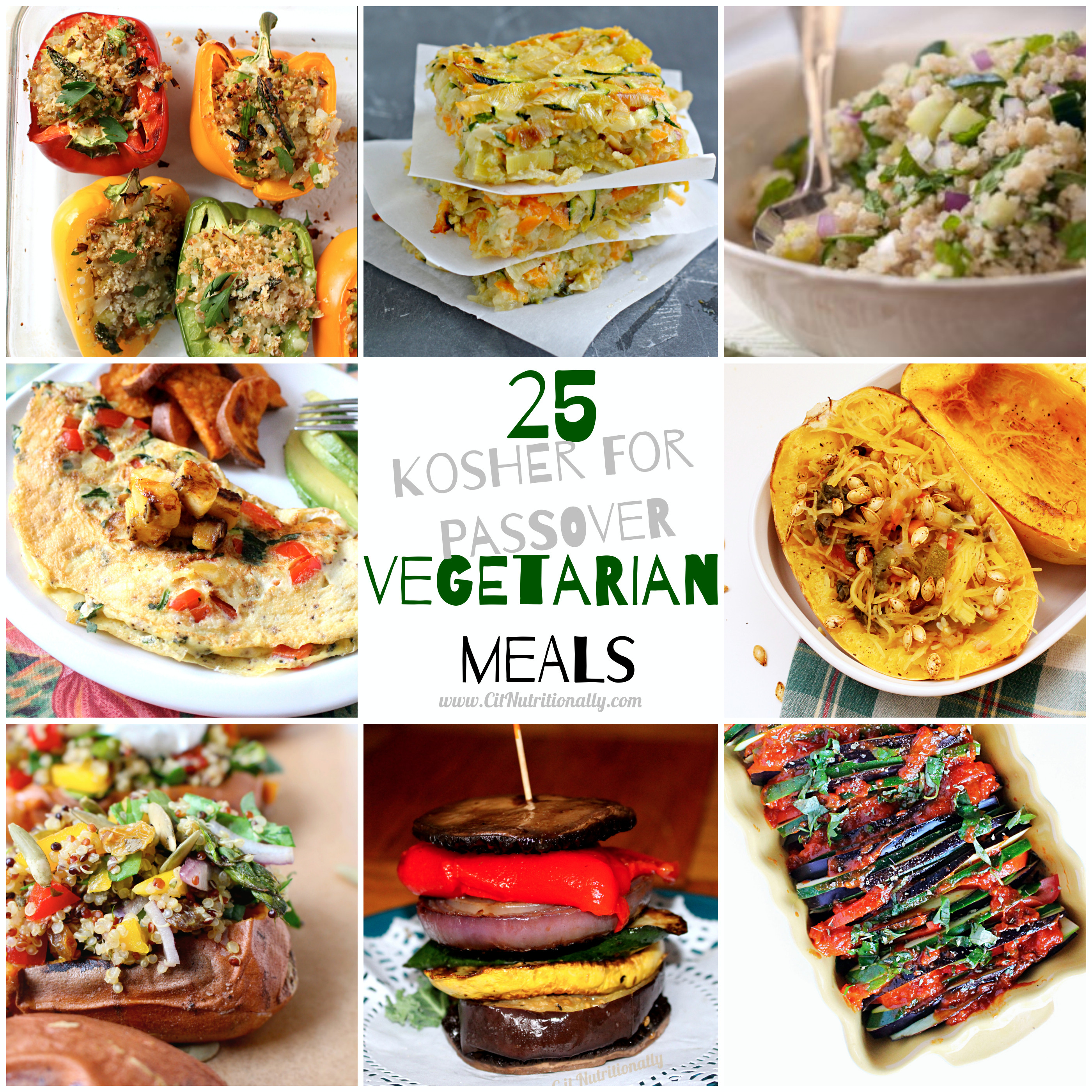Passover Vegetarian Recipes  25 Ve arian Kosher for Passovers Meals C it Nutritionally