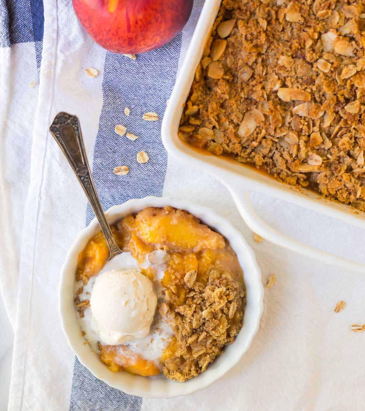 Peach Recipes Healthy  Peach Crisp