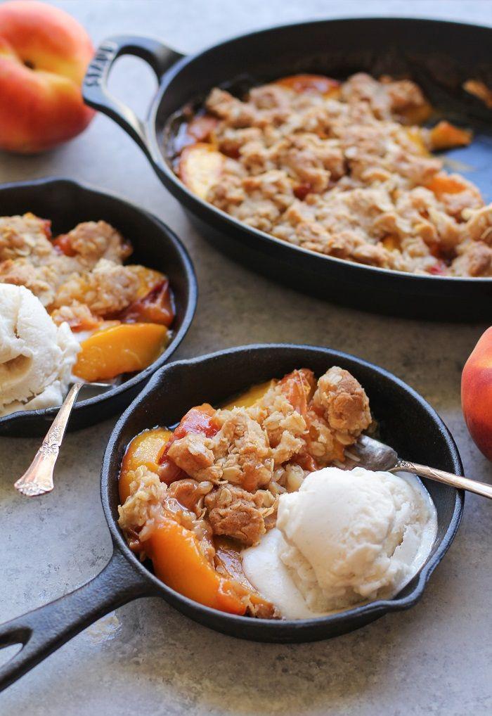 Peach Recipes Healthy  Peach Crisp gluten free and vegan Recipe