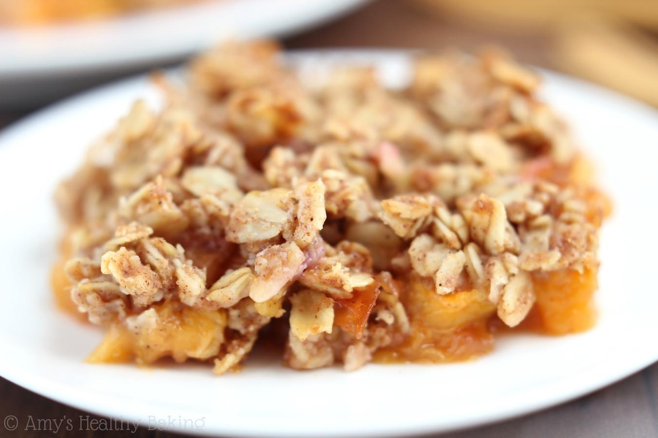 Peach Recipes Healthy  Clean Peach Crumble