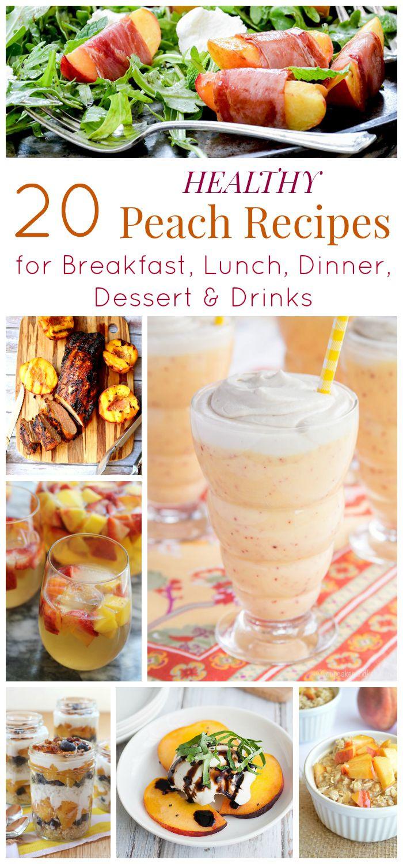 Peach Recipes Healthy  healthy fresh peach dessert recipes
