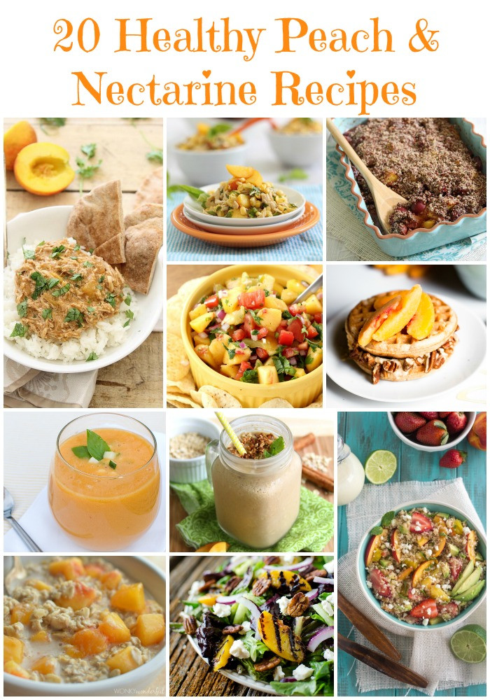 Peach Recipes Healthy  20 Healthy Peach and Nectarine Recipes Food Done Light