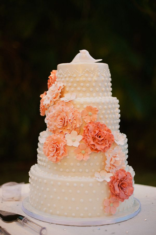 Peach Wedding Cake  peach wedding cakes peach wedding cake gallery