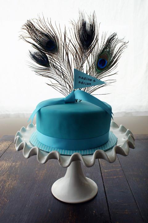 Peacock Themed Wedding Cakes  Peacock Cake