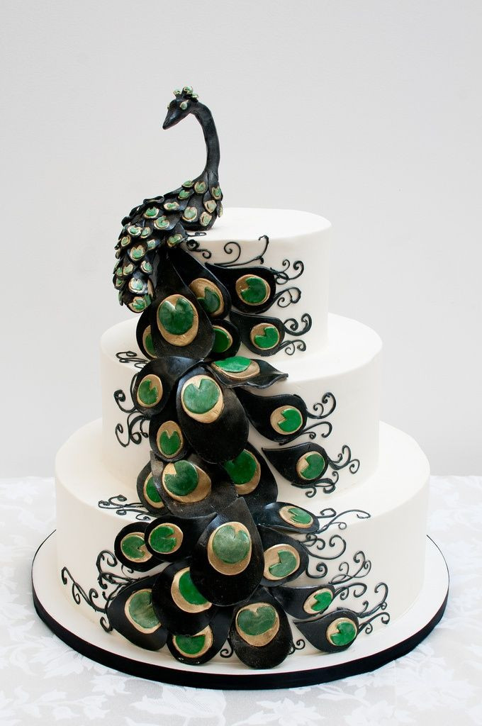 Peacock Themed Wedding Cakes  Top 15 Prettiest Wedding Cakes Page 12 of 15