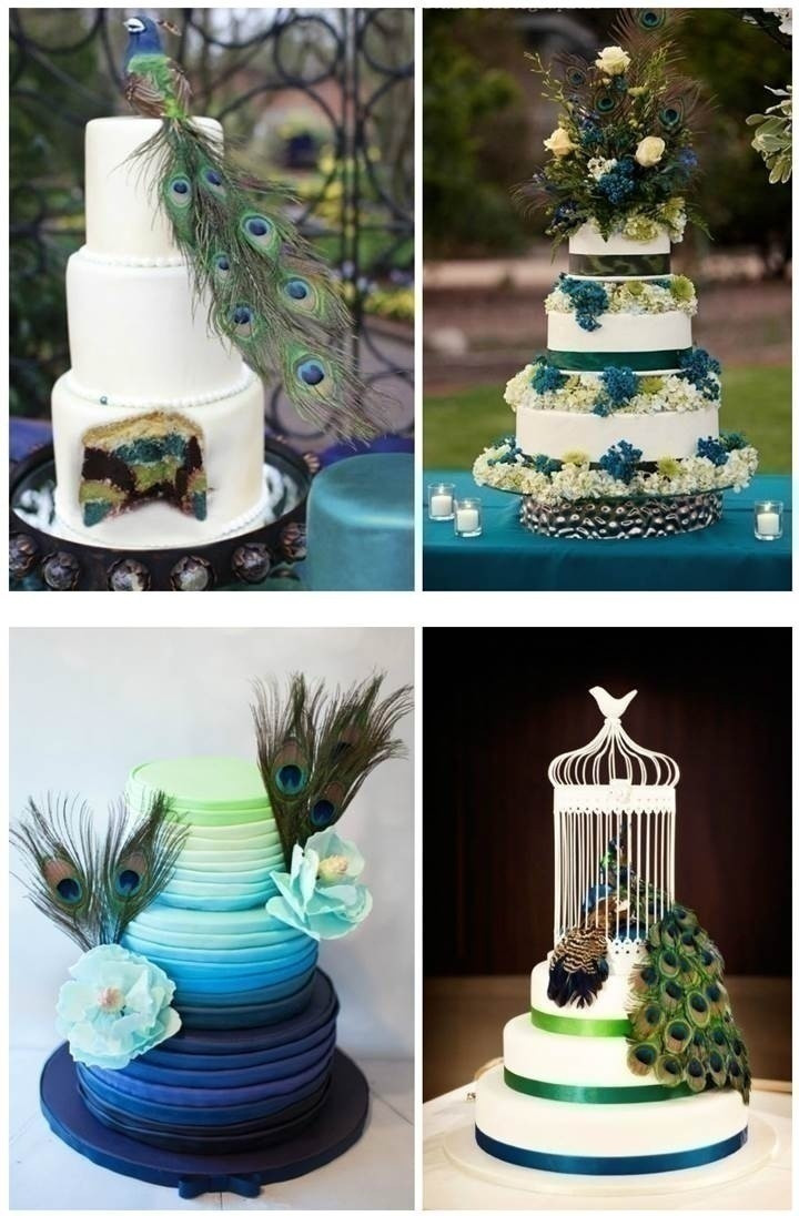 Peacock Themed Wedding Cakes  How to Plan a Peacock – Themed Indian Wedding Blog