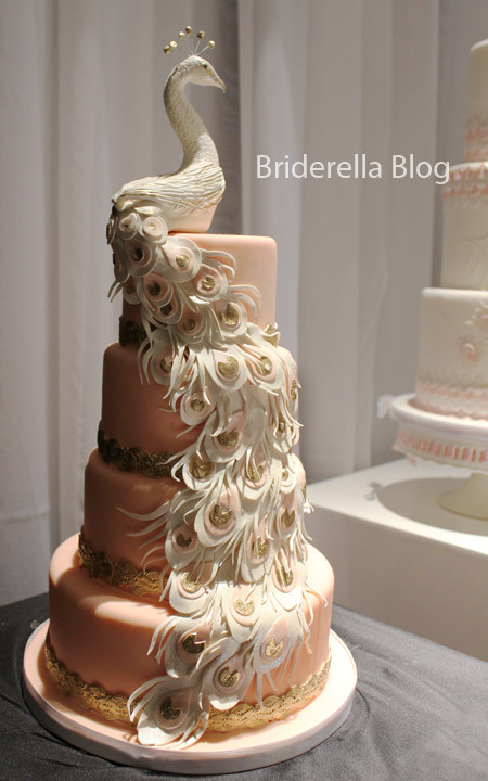Peacock Themed Wedding Cakes  WDW WEDDING DAY WEEKLY BLOGGING FOR BRIDES Peacock Cakes
