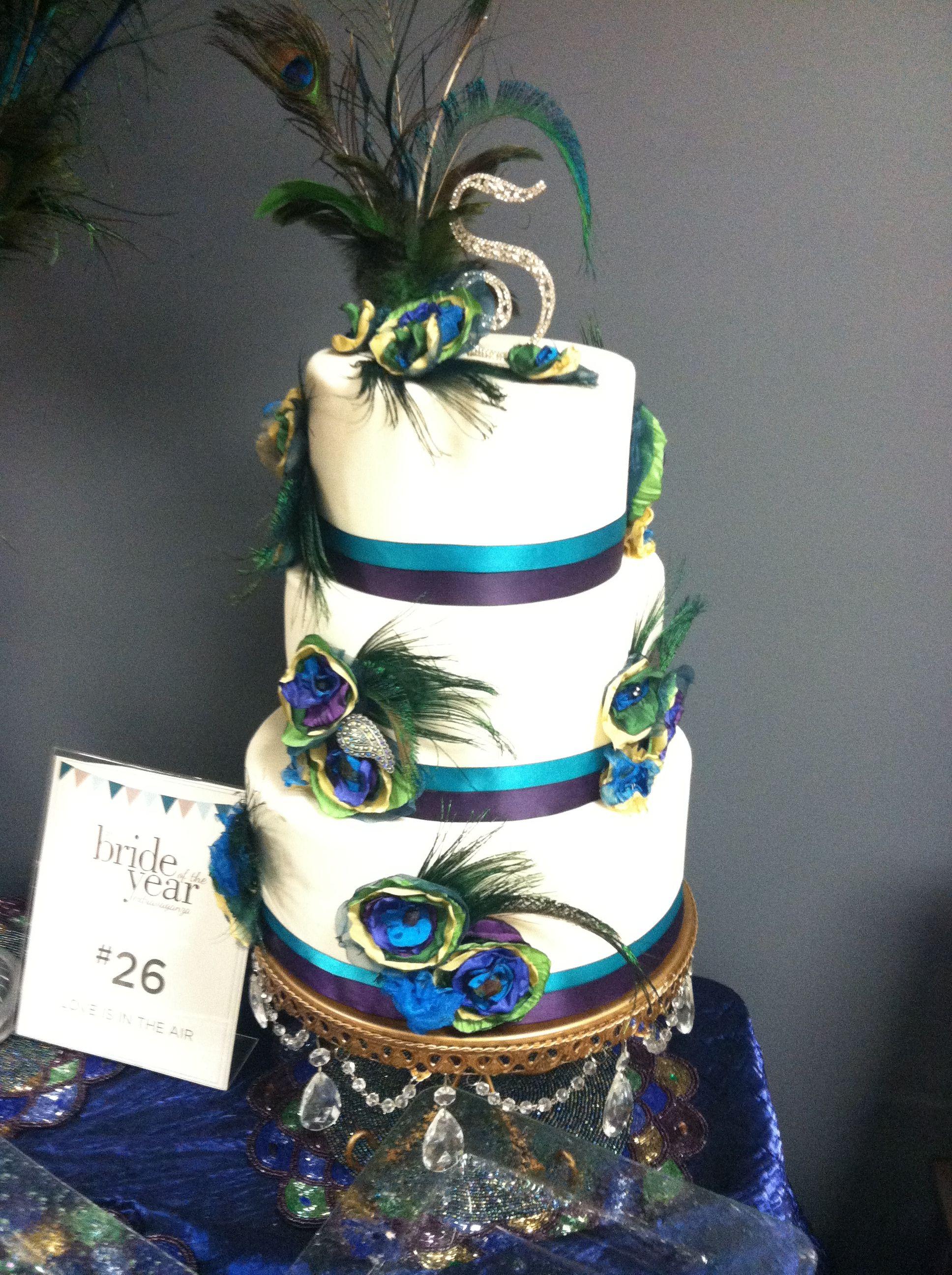 Peacock Themed Wedding Cakes  Peacock theme Cake