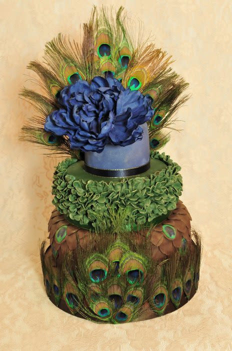 Peacock Themed Wedding Cakes  Peacock themed wedding cake Cake by Occasion Cakes by