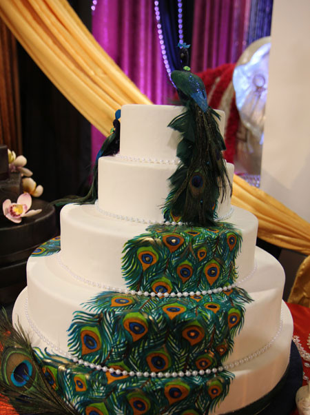 Peacock Themed Wedding Cakes  Peacock Wedding Cakes Best of Cake