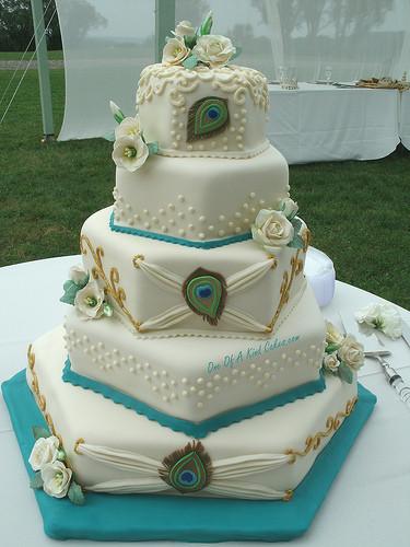Peacock Themed Wedding Cakes  Peacock Wedding Cake