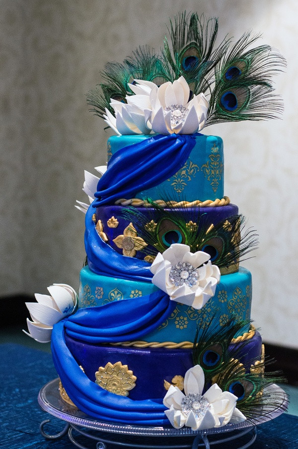 Peacock Themed Wedding Cakes  The fiercest quince theme for the brave and bold quince