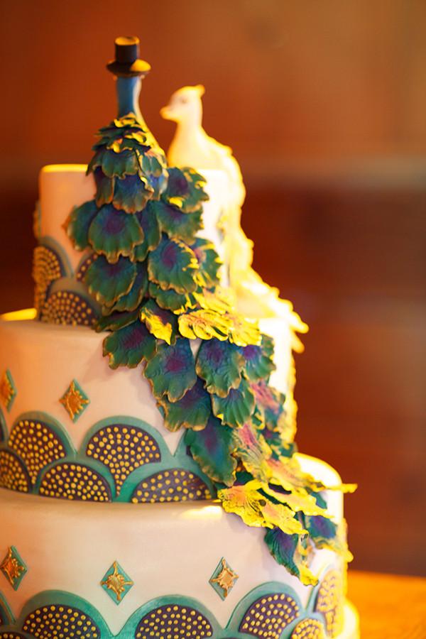 Peacock Themed Wedding Cakes  Peacock Themed Wedding Cake Elizabeth Anne Designs The