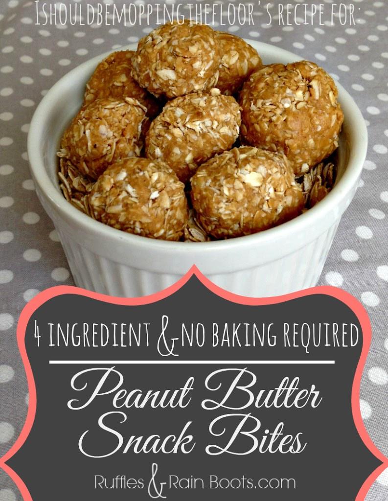 Peanut Butter Healthy Snacks  Healthy Peanut Butter Snack Bites